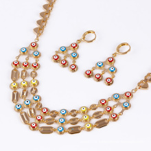 Fashion Simple African Cute 18k Gold-Plated Imitation Jewelry Set 61215