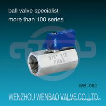 "Female Threaded 316 Mini Ball Valve Pn63 3/8"" Price"