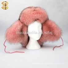 Factory Direct Supply Fashion Pink Women Russian Style Fur Hat