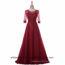 Women A-Line Lace Evening Party Prom Dress with Half Sleeve