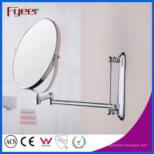 Fyeer alta calidad redonda plegable montada en la pared espejo de maquillaje que magnifica