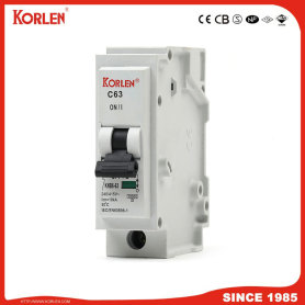 Korlen New Type Plug-in Mini Circuit Breaker 1p 1A-63A MCB with High Making and Breaking Capacity 10ka