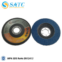 """5"""" zirconia oxide abrasive flap disc for stainless steel grinding"""