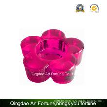 Bougeoir en couleur imprimé Tealight avec forme de fleur