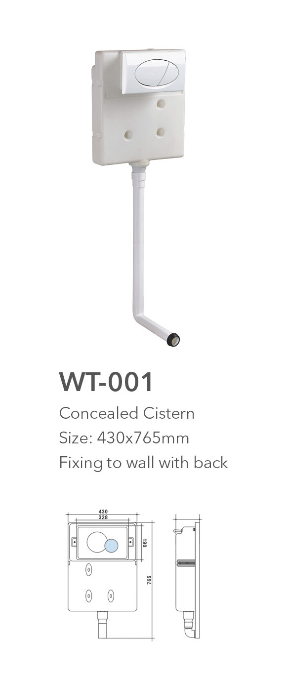 Wt 001 Concealed Water Tank