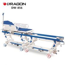 Trole de conexão paciente manual barato da operação de transferência do hospital DW-856