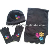 PT003 polar fleece hat scarf gloves set