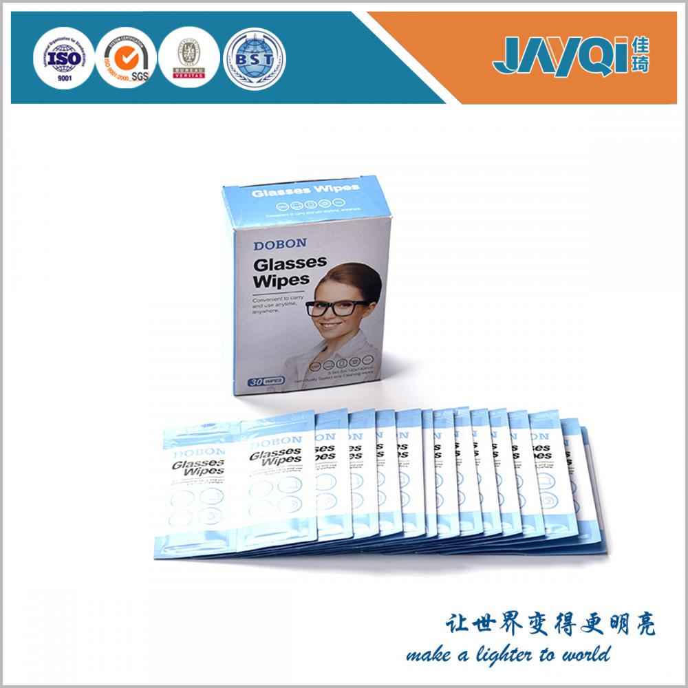 Single Pack Eye Glass Wet Wipes