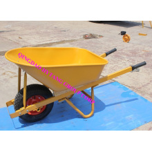 Iron square wooden handle wheelbarrow