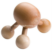 Promotional 3 Legged Mini Massages - Pine Wooden
