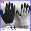 Latex Foma Revêtue de gants manuels résistant à la coupe au niveau 5