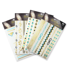 Designs golden silver flash sticker,Europe Temporary Sexy Body  Tattoo Stickers