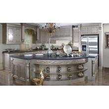 U Shape Exotic Solid Wood Kitchen Cabinet