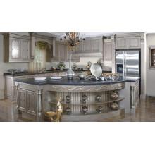 Gabinete de cozinha de madeira maciça exótica em forma de U