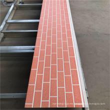 Panel sándwich exterior de aislamiento de calor ambiental de PU