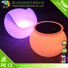 Table ronde et chaise en plastique avec lumière LED pour boîte de nuit