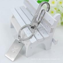 2016 neue Design Edelstahl quadratischen Schlüsselkette