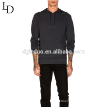 Hot sale autumn black thin mens pullover hoodie with pocket and hoodie