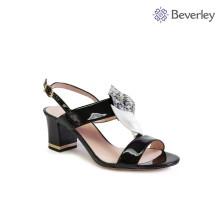 фабрика оптовая дамы толстый каблук ремень сандалии