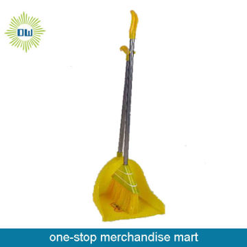 stainless steel dustpan and broom set