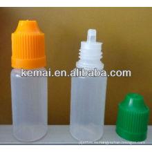 Botella de plástico para el tabaco