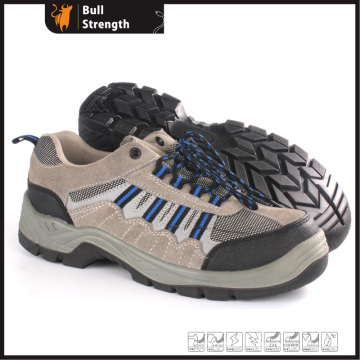 Low Cut Suede Leather Safety Shoe with Steel Toe (SN5386)