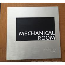 Edificio Interior Indicator Identification Directory Metal Braille Ada Sign
