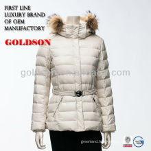2017 OEM goose down jacket with raccoon fur trim hood