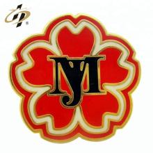 Pin de solapa de la flor del metal del esmalte de encargo del precio de fábrica