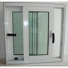 Fenêtre coulissante verticale simple de PVC / UPVC de fenêtre de vinyle