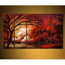 Peinture à l'huile paysagère pour mur décoratif