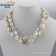 Freshwater Cultured Pearl Necklace 15mm AA Baroque Irregular Shaped Pearl Necklace