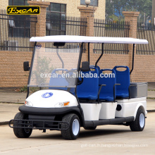 EXCAR 6 places voiture électrique de patrouille électrique mini-bus Cruiser avec coffre de chargement