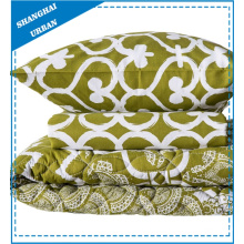 Green Heart-Shape Printed Polyester Quilt and Duvet Cover Set