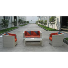 Mercado moderno Rattan Metal sofá conjunto projetos