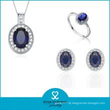 Encantadora jóia de prata rhinestone conjunto para senhoras (j-0166)
