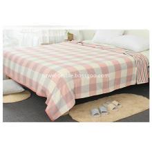 Gauze Cotton Blanket Jacquard with Waffle Pattern