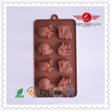 Brown Car Shaped Silicone Cake Mould