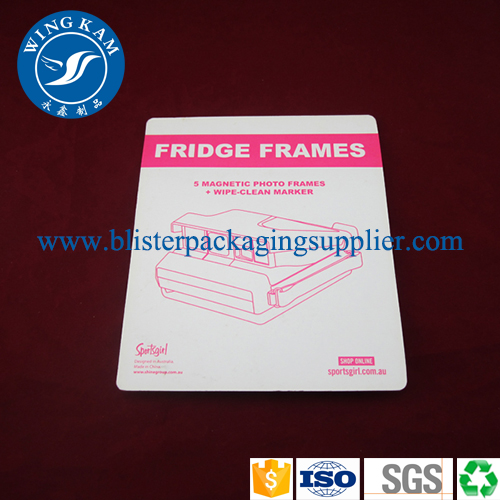 Custom design hanging Sliding Card Blister Packaging