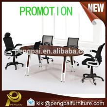 Promotional oval discussion table with steel leg