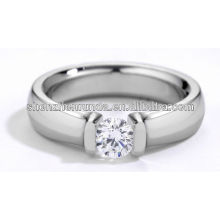 stainless steel fashion ring finger diamond ca stone rings for women and men