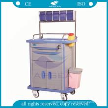АГ-AT001A3 терапии с ящиками для хранения больницу тележки ABS анестезии с ящиком
