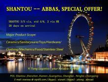 Pengangkutan laut Shantou ke Bandar Abbas