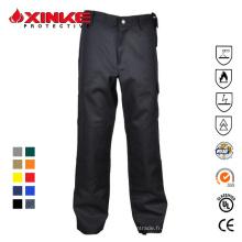 pantalon ignifuge de coton de cargaison résistante de mens avec six poches