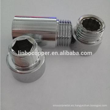 GutenTop latón cp extensión pezón chapado cromo 25mm