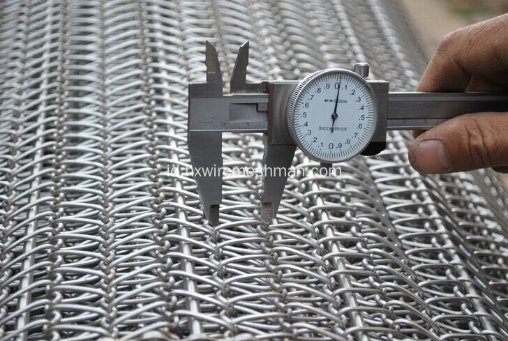 Stainless Steel Flat Wire Link Belt