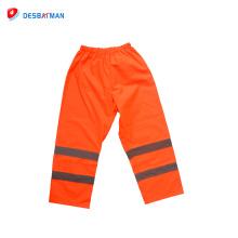 Pantalones de trabajo de pantalones impermeables de alta seguridad de alta visibilidad con cinta reflectante