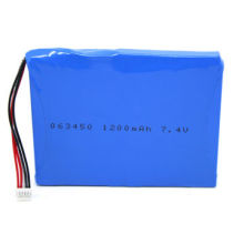 3.7V 1200mAh Lithium-ion Polymer Battery, 603450, with RoHS Certificate, 500 Cycles