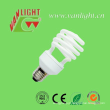 Meia espiral T2-20W CFL luz, lâmpada de poupança de energia