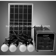 New Home Solar Lighting System Lamp with 10W Solar Panel